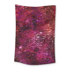 Funny Galaxy Tiger Pattern Small Tapestry by tarastyle