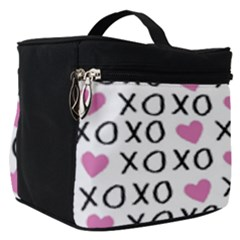 Xo Valentines Day Pattern Make Up Travel Bag (small) by Valentinaart