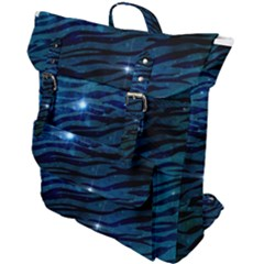 Funny Galaxy Tiger Pattern Buckle Up Backpack
