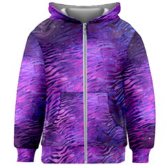 Funny Galaxy Tiger Pattern Kids  Zipper Hoodie Without Drawstring by tarastyle