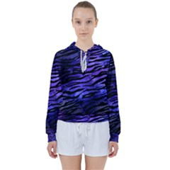Funny Galaxy Tiger Pattern Women s Tie Up Sweat by tarastyle