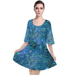 Funny Galaxy Tiger Pattern Velour Kimono Dress by tarastyle