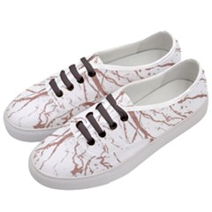 Rose Gold Marble Veins  Women s Classic Low Top Sneakers by LoolyElzayat