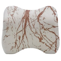 Rose Gold Marble Veins  Velour Head Support Cushion