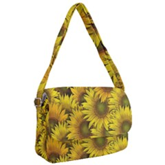 Surreal Sunflowers Courier Bag by retrotoomoderndesigns