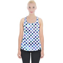 Shades Of Blue Polka Dots Piece Up Tank Top