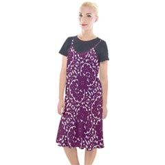 Magenta And White Abstract Print Pattern Camis Fishtail Dress by dflcprintsclothing