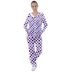 Shades Of Purple Polka Dots Women s Tracksuit