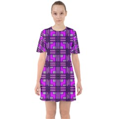 Grammer 7 Sixties Short Sleeve Mini Dress by ArtworkByPatrick