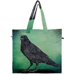 Raven   In Green   Canvas Travel Bag by WensdaiAddamns