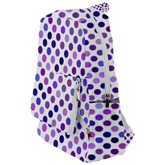Shades Of Purple Polka Dots Travelers  Backpack by retrotoomoderndesigns