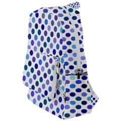 Shades Of Blue Polka Dots Travelers  Backpack by retrotoomoderndesigns