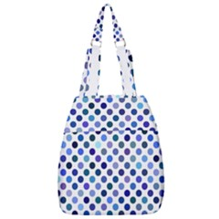 Shades Of Blue Polka Dots Center Zip Backpack