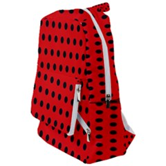 Red Black Polka Dots Travelers  Backpack