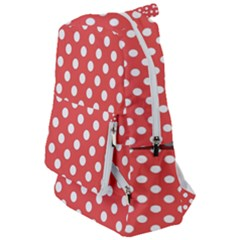 Red White Polka Dots Travelers  Backpack by retrotoomoderndesigns