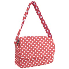 Red White Polka Dots Courier Bag by retrotoomoderndesigns
