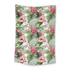 Tropical Flowers Small Tapestry by goljakoff