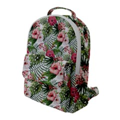 Tropical Flowers Flap Pocket Backpack (large) by goljakoff