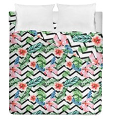 Geometric Flowers Pattern Duvet Cover Double Side (queen Size) by goljakoff