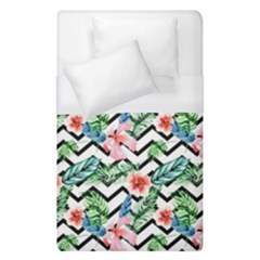 Geometric Flowers Pattern Duvet Cover (single Size) by goljakoff