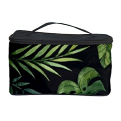 Night Tropical Leaves Cosmetic Storage by goljakoff
