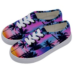 Summer Evening Palms Kids  Classic Low Top Sneakers by goljakoff