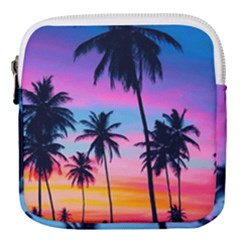 Summer Evening Palms Mini Square Pouch by goljakoff