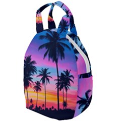 Summer Evening Palms Travel Backpacks by goljakoff