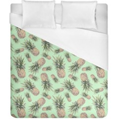 Green Pinapples Duvet Cover (california King Size) by goljakoff