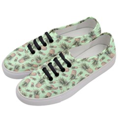 Green Pinapples Women s Classic Low Top Sneakers by goljakoff