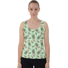 Green Pinapples Velvet Tank Top by goljakoff