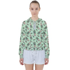 Green Pinapples Women s Tie Up Sweat by goljakoff