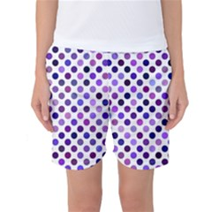 Shades Of Purple Polka Dots Women s Basketball Shorts