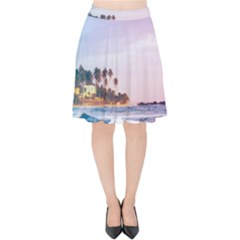 Seascape Velvet High Waist Skirt by goljakoff