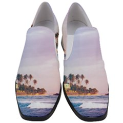 Seascape Slip On Heel Loafers by goljakoff