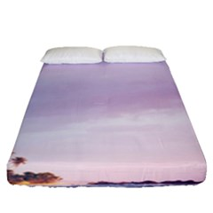 Seascape Dusk Fitted Sheet (queen Size) by goljakoff