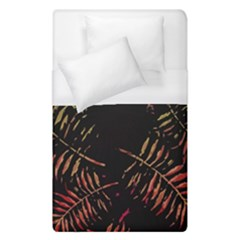 Gradient Tropical Leaves Duvet Cover (single Size) by goljakoff