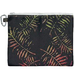 Gradient Tropical Leaves Canvas Cosmetic Bag (xxxl) by goljakoff