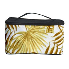 Gold Tropical Leaves Cosmetic Storage by goljakoff