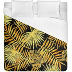 Gold Tropical Leaves Duvet Cover (king Size) by goljakoff
