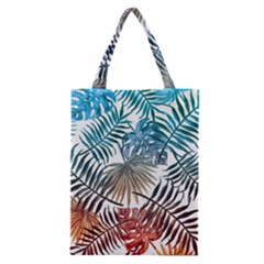 Gradient Tropical Leaves Classic Tote Bag by goljakoff
