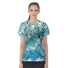 Azure Tropical Leaves Women s Sport Mesh Tee by goljakoff