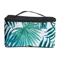 Azure Tropical Leaves Cosmetic Storage by goljakoff