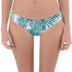 Azure Tropical Leaves Reversible Hipster Bikini Bottoms by goljakoff