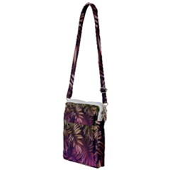 Green And Purple Tropical Leaves Multi Function Travel Bag by goljakoff