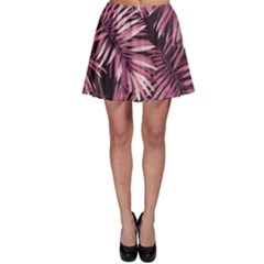 Rose Tropical Leaves Skater Skirt by goljakoff