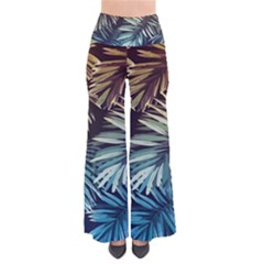 Gradient Tropical Leaves So Vintage Palazzo Pants by goljakoff