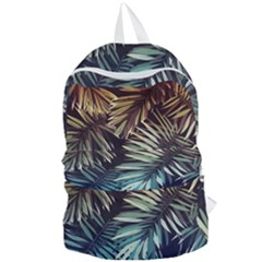 Gradient Tropical Leaves Foldable Lightweight Backpack