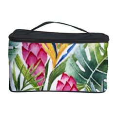 Tropical Leaves And Flowers Cosmetic Storage by goljakoff