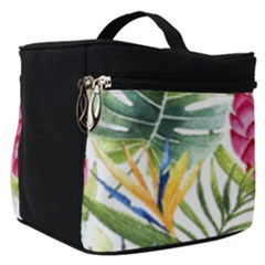 Tropical Leaves And Flowers Make Up Travel Bag (small) by goljakoff